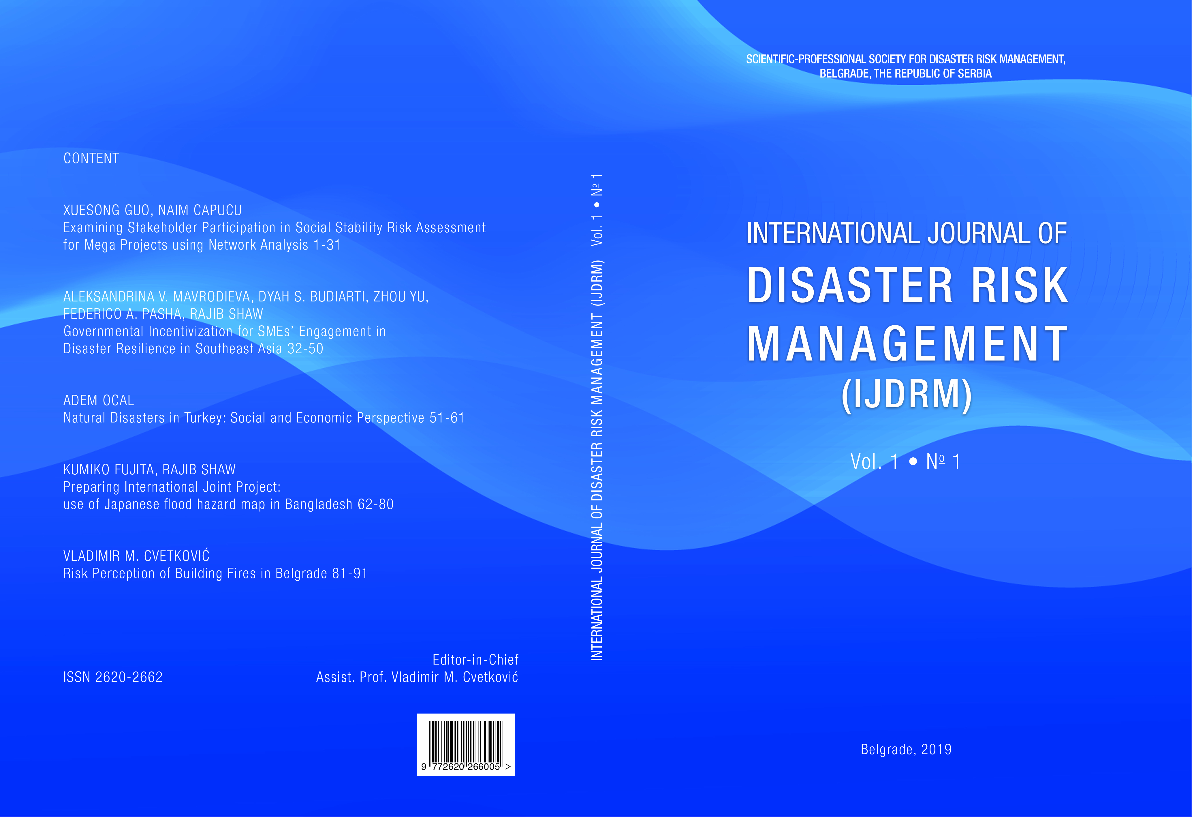 International Journal of Disaster Risk Management (IJDRM)