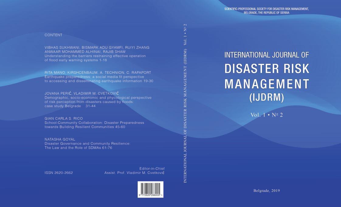 International Journal of Disaster Risk Management