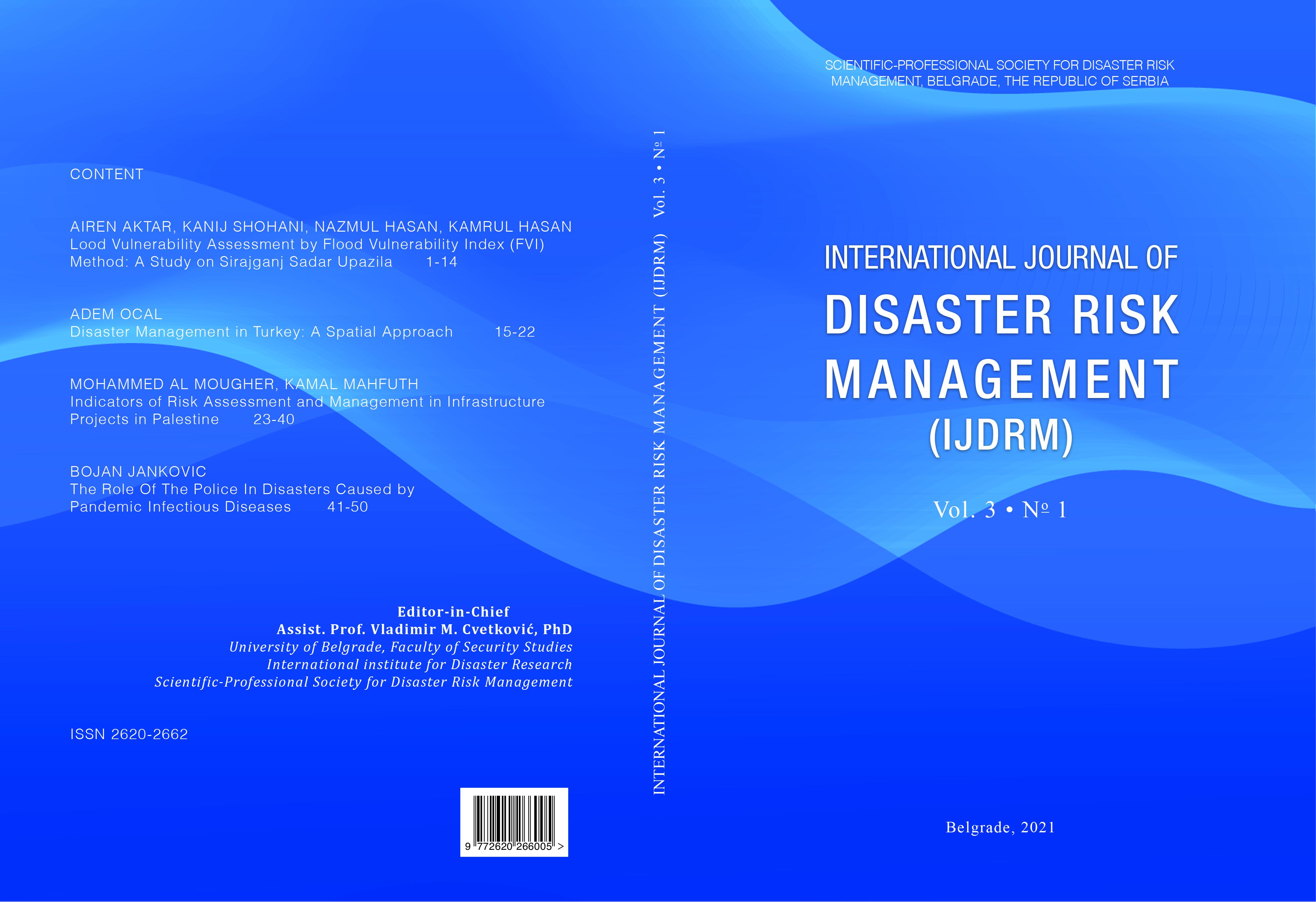 Cover image - International Journal of Disaster Risk Management (IJDRM)